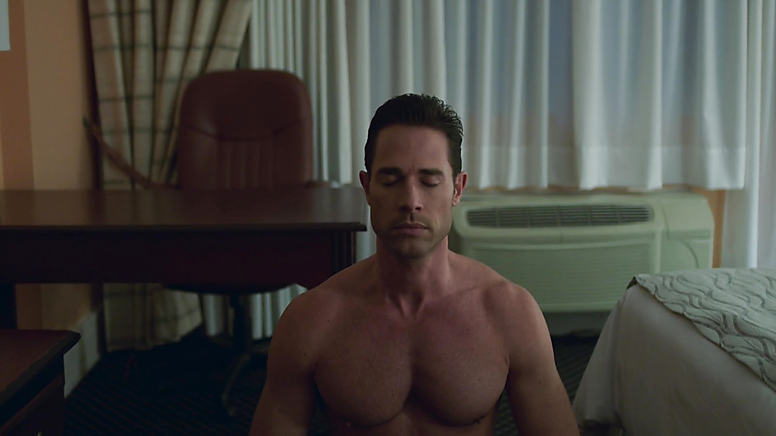 Sebastian Rulli sexy shirtless scene October 6, 2019, 1pm