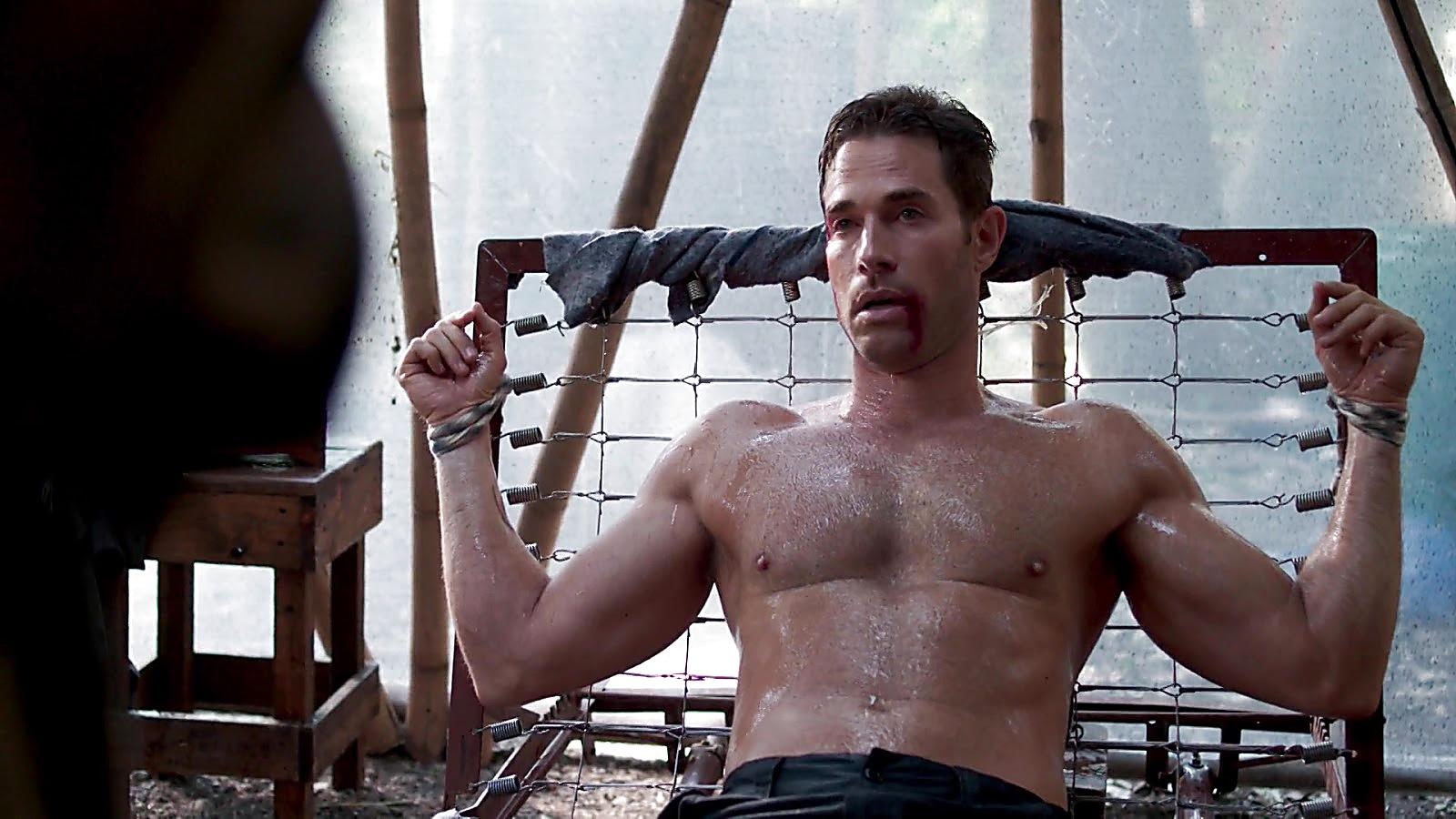 Sebastian Rulli sexy shirtless scene October 19, 2019, 4pm