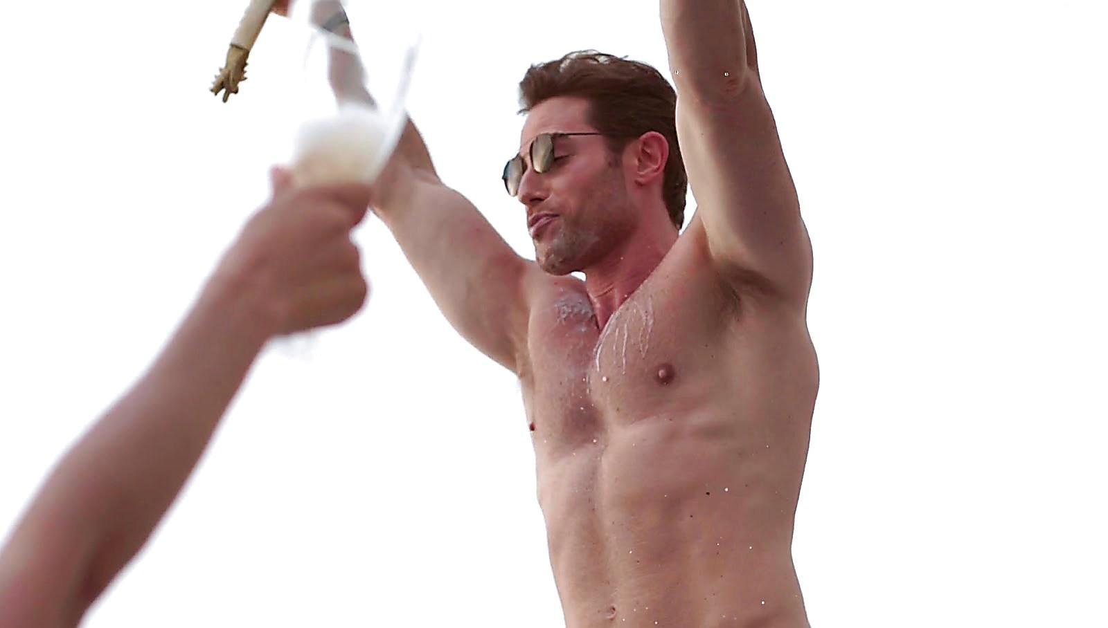 Sebastian Rulli sexy shirtless scene January 20, 2018, 1pm