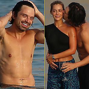 Sebastian Stan latest sexy shirtless August 16, 2021, 1pm