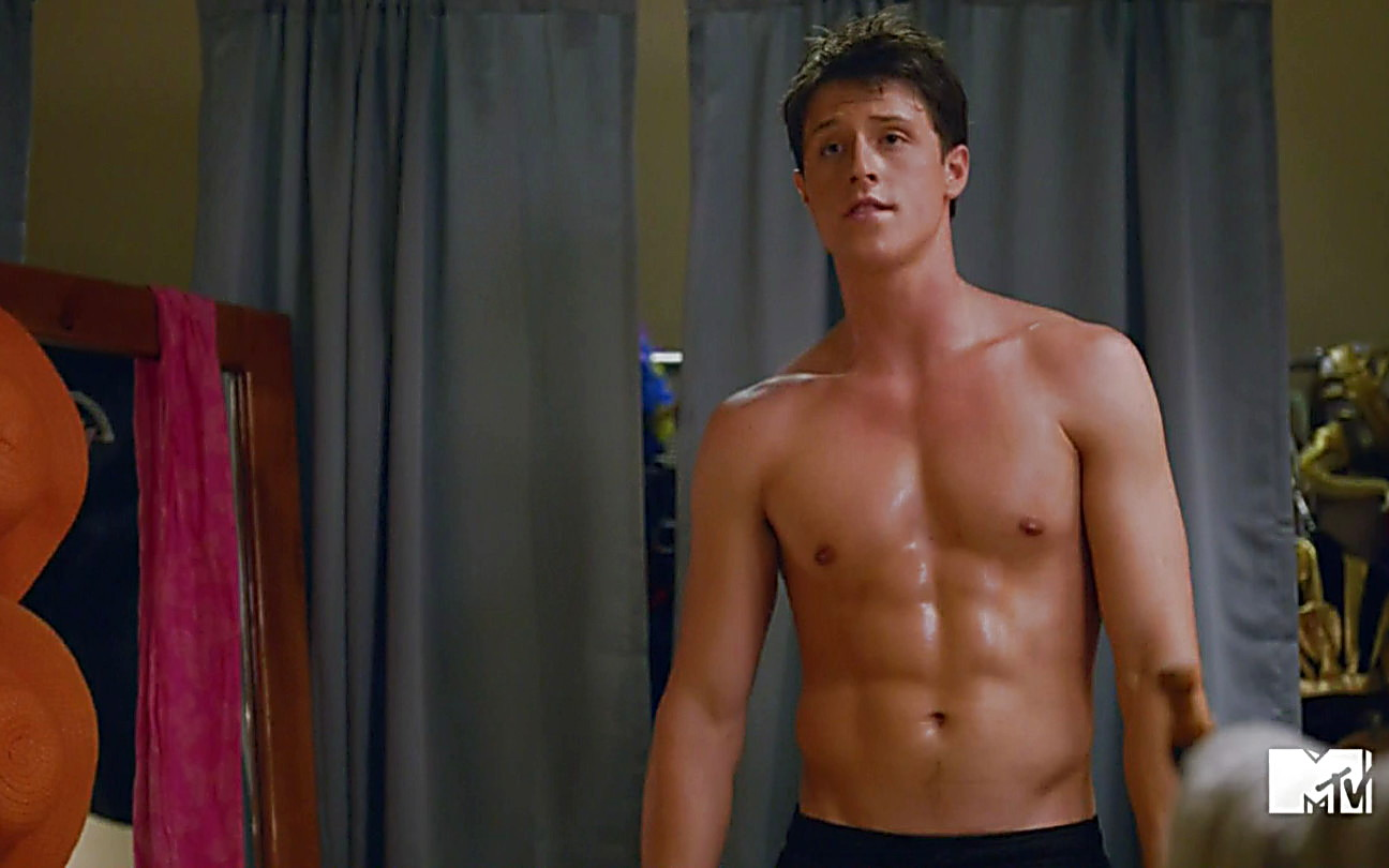 Shane Harper sexy shirtless scene October 2, 2014, 8pm