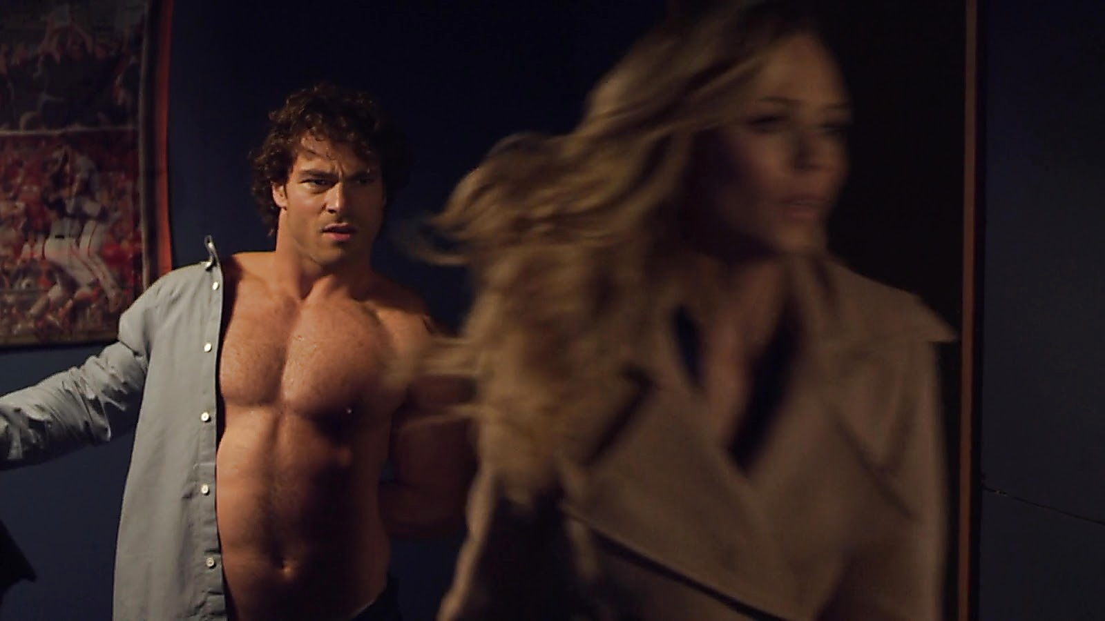 Shawn Roberts sexy shirtless scene February 2, 2020, 12pm