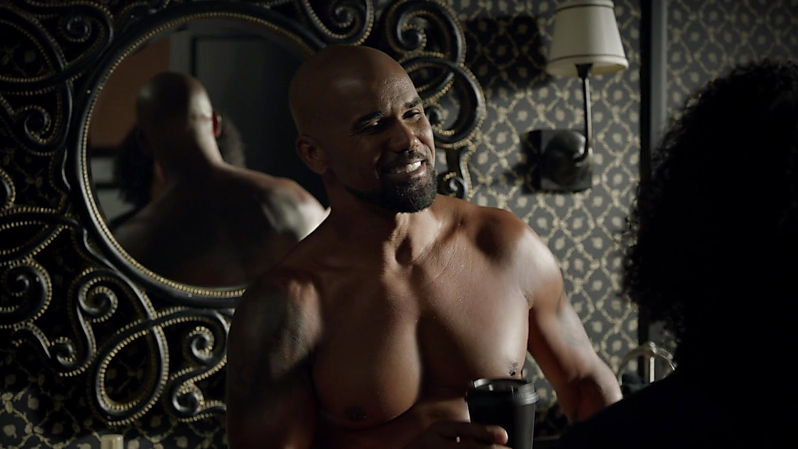 Shemar Moore sexy shirtless scene September 28, 2018, 12pm