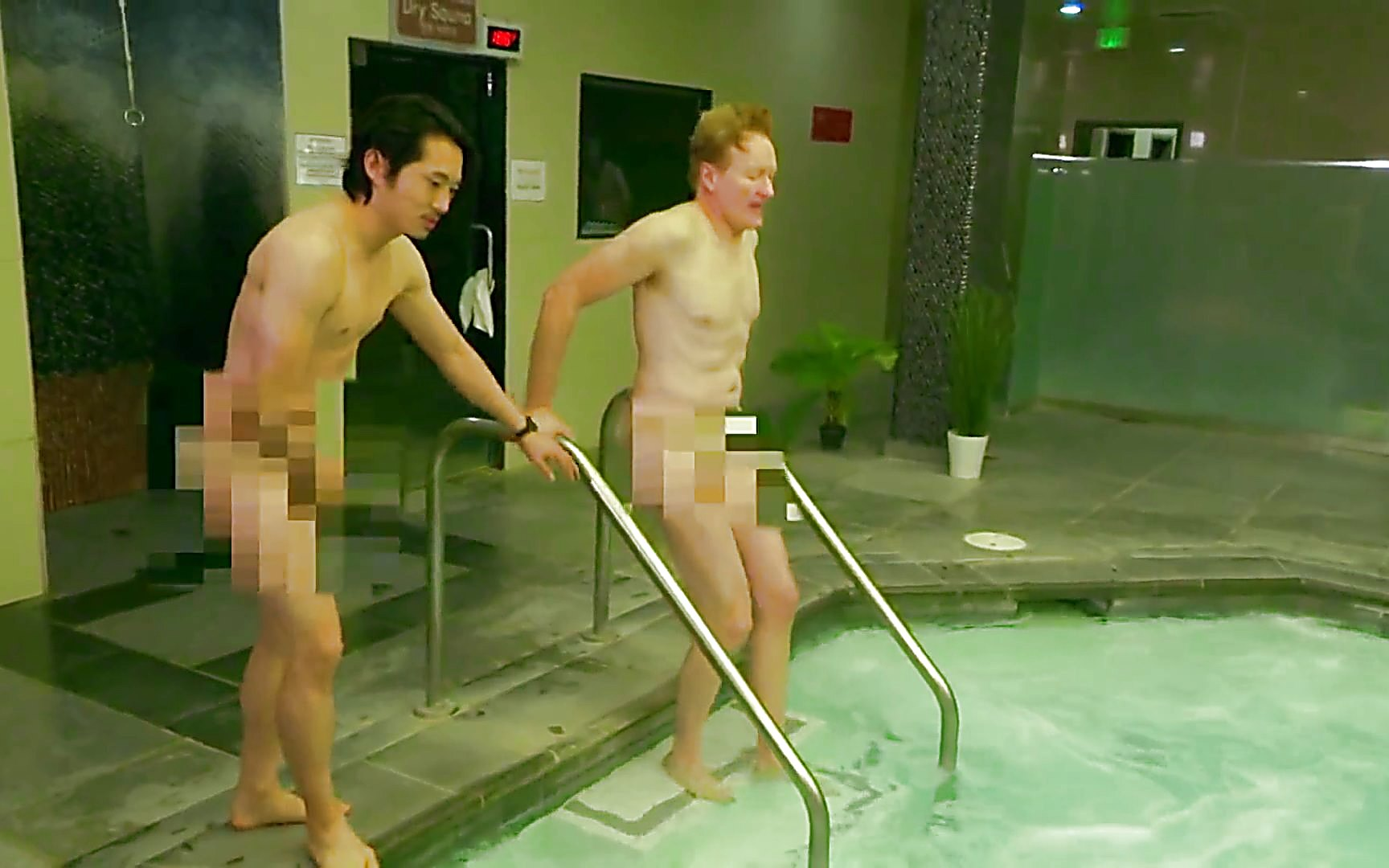 Steven Yeun sexy shirtless scene March 1, 2015, 6pm