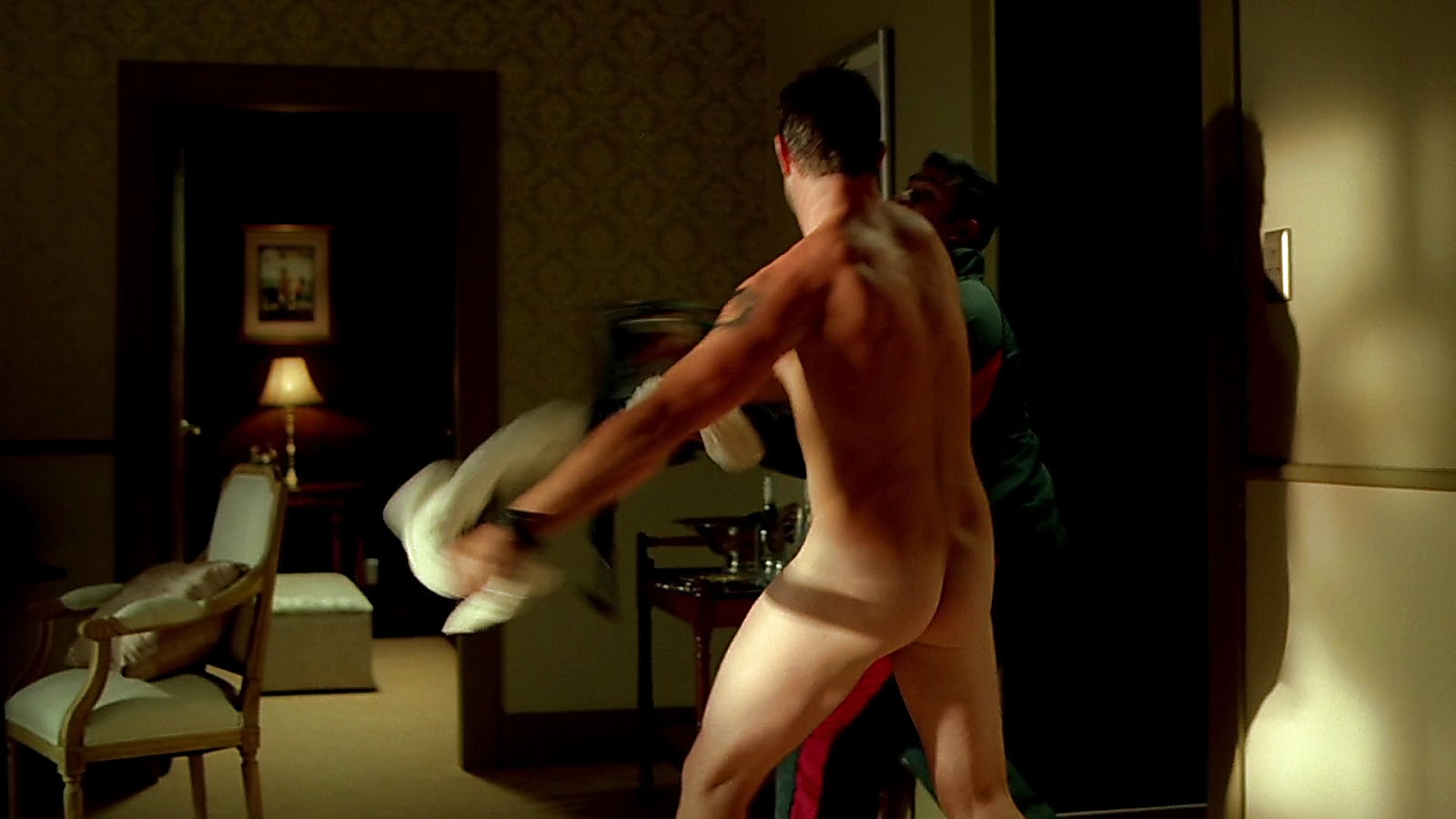Sullivan Stapleton sexy shirtless scene February 29, 2020, 6am