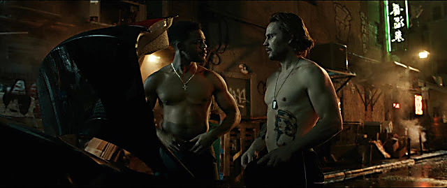 Taylor Kitsch sexy shirtless scene January 1, 2021, 1pm