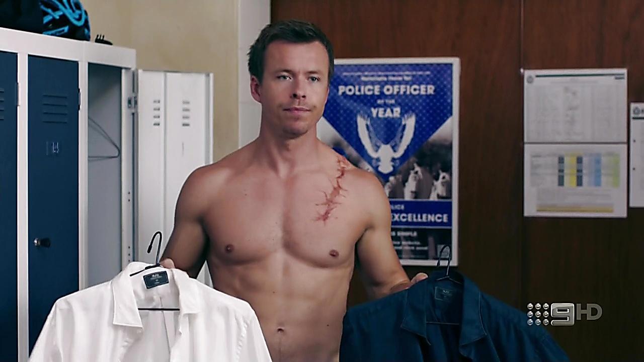 Todd Lasance sexy shirtless scene August 29, 2018, 12pm