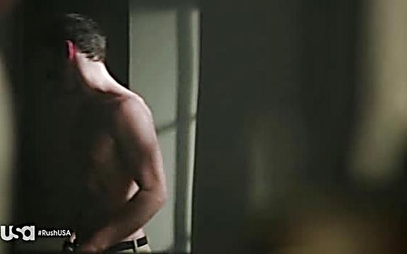 Tom Ellis sexy shirtless scene July 21, 2014, 1pm