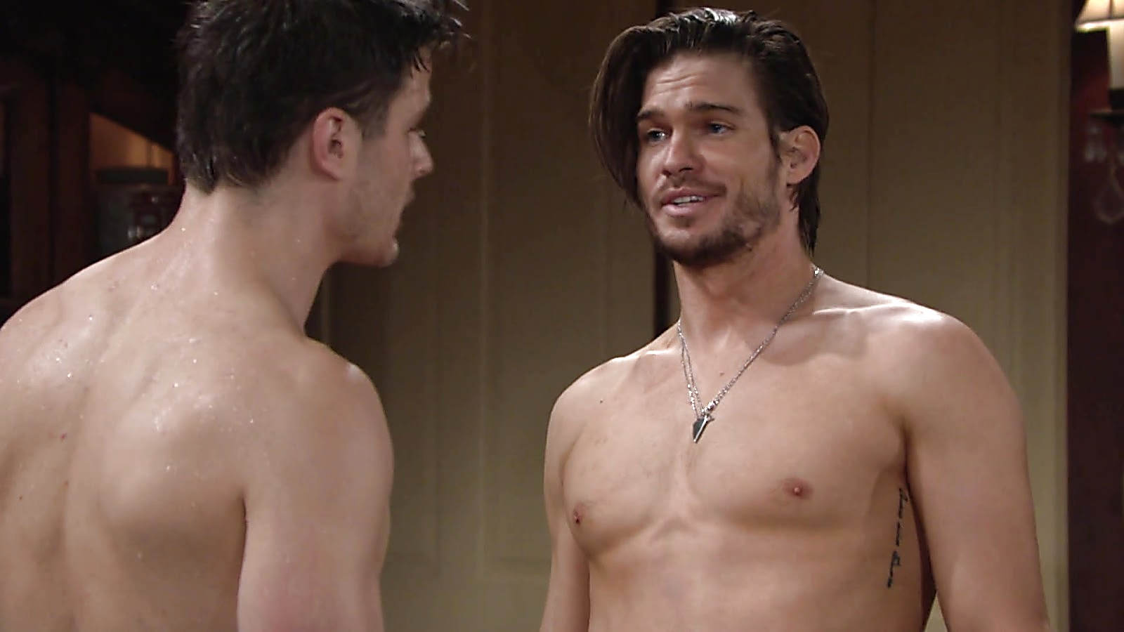Tyler Johnson sexy shirtless scene July 12, 2019, 1pm