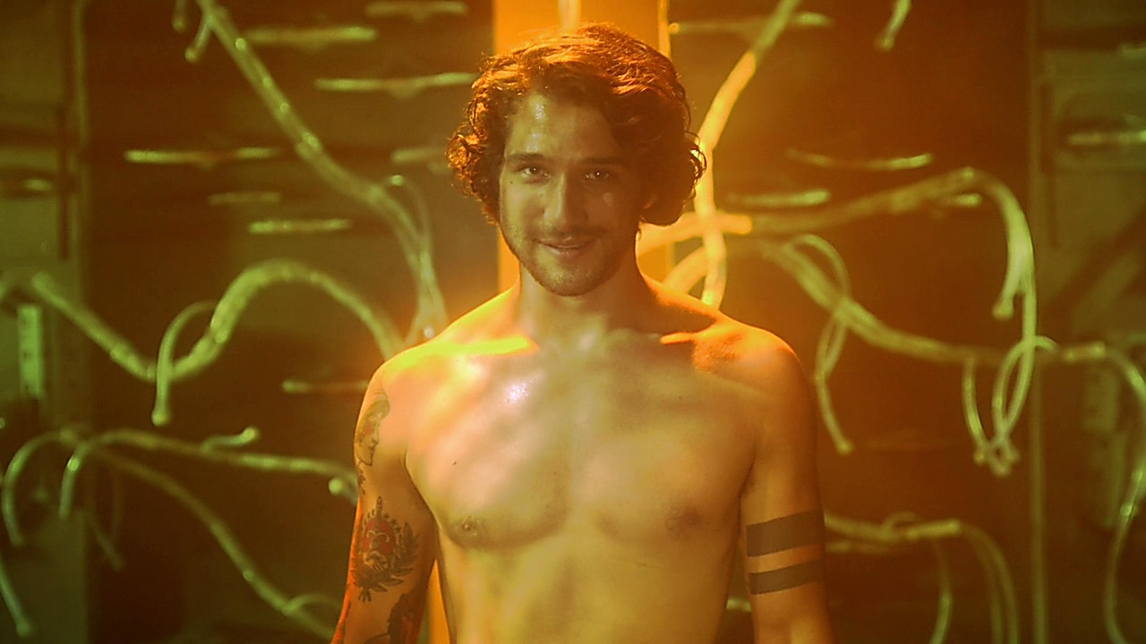 Tyler Posey sexy shirtless scene March 24, 2019, 9am