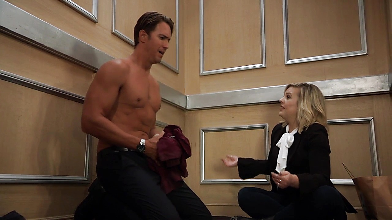 Wes Ramsey sexy shirtless scene September 19, 2018, 1pm