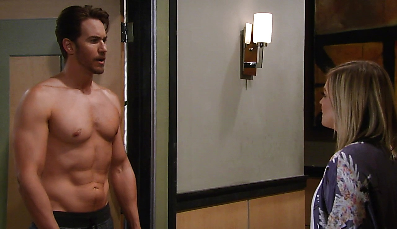 Wes Ramsey sexy shirtless scene March 10, 2018, 10am