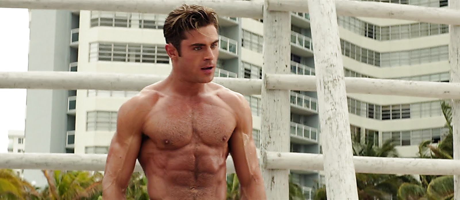 Zac Efron sexy shirtless scene August 15, 2017, 10am