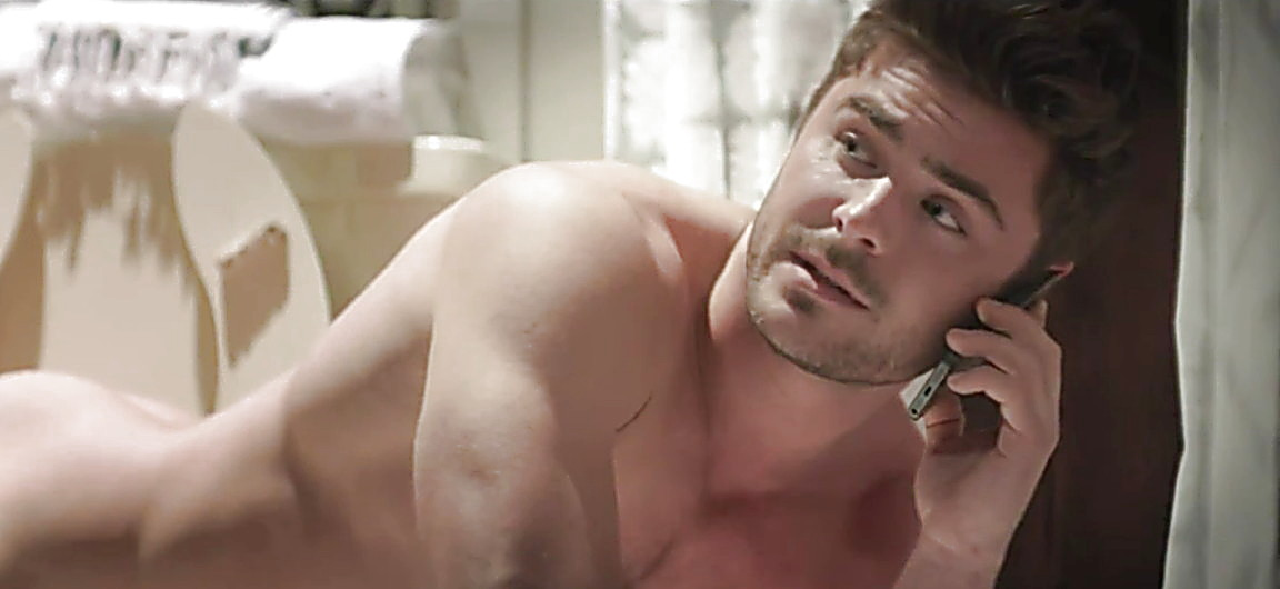Zac Efron sexy shirtless scene January 30, 2014, 10pm