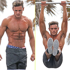 Zac Efron latest sexy shirtless March 8, 2016, 11am