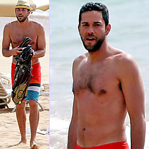 Zachary Levi latest sexy shirtless June 13, 2014, 7pm