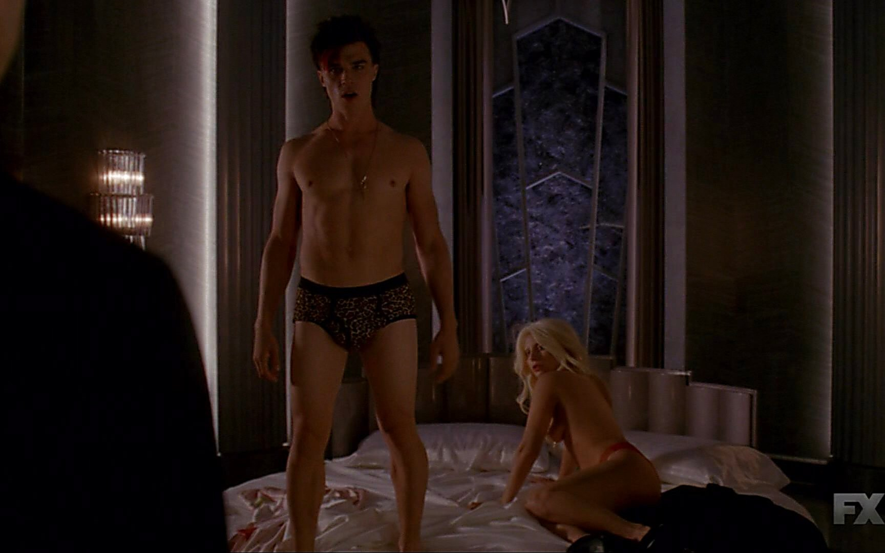 Evan Peters latest sexy shirtless scene October 18, 2015, 4pm