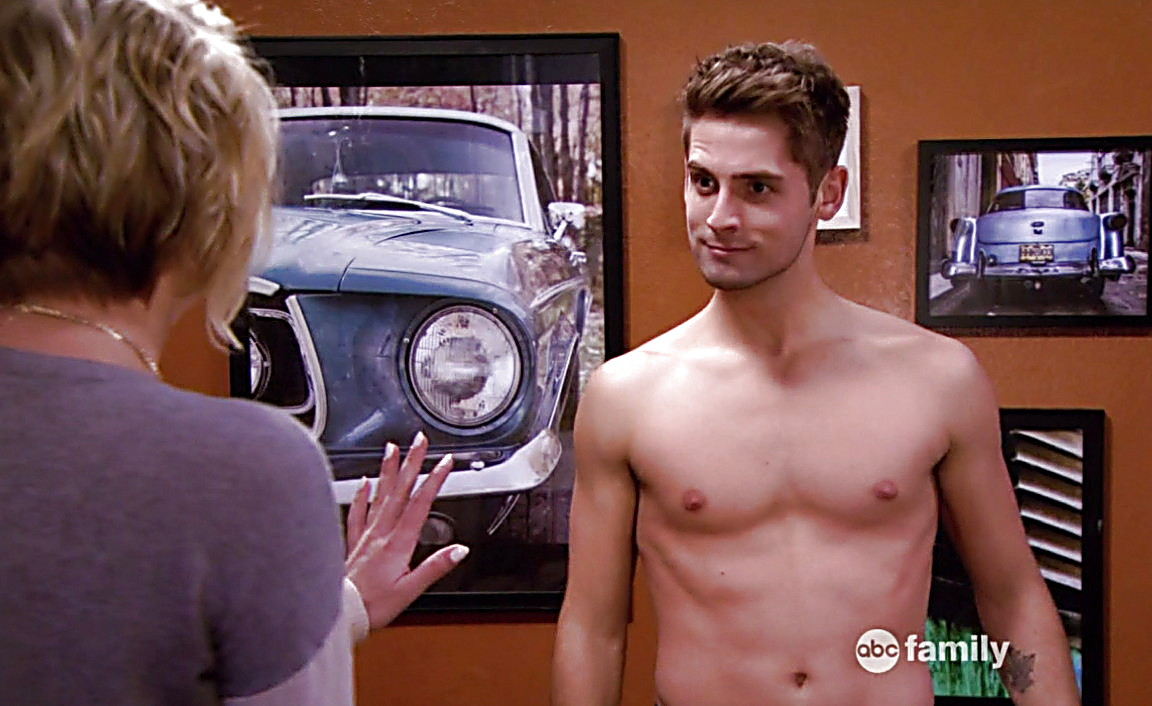 Jean Luc Bilodeau sexy shirtless scene May 15, 2014, 7pm