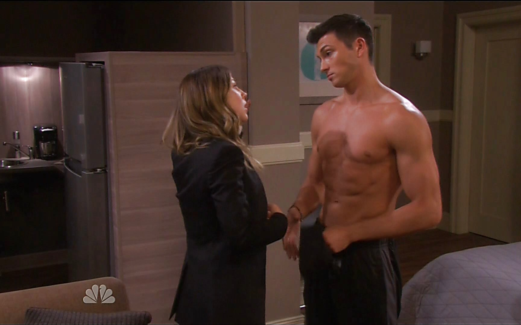 Greg Vaughan sexy shirtless scene January 11, 2015, 7pm