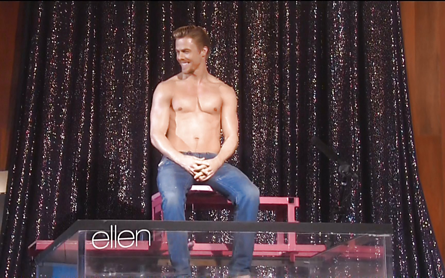 Derek Hough sexy shirtless scene November 2, 2014, 9pm