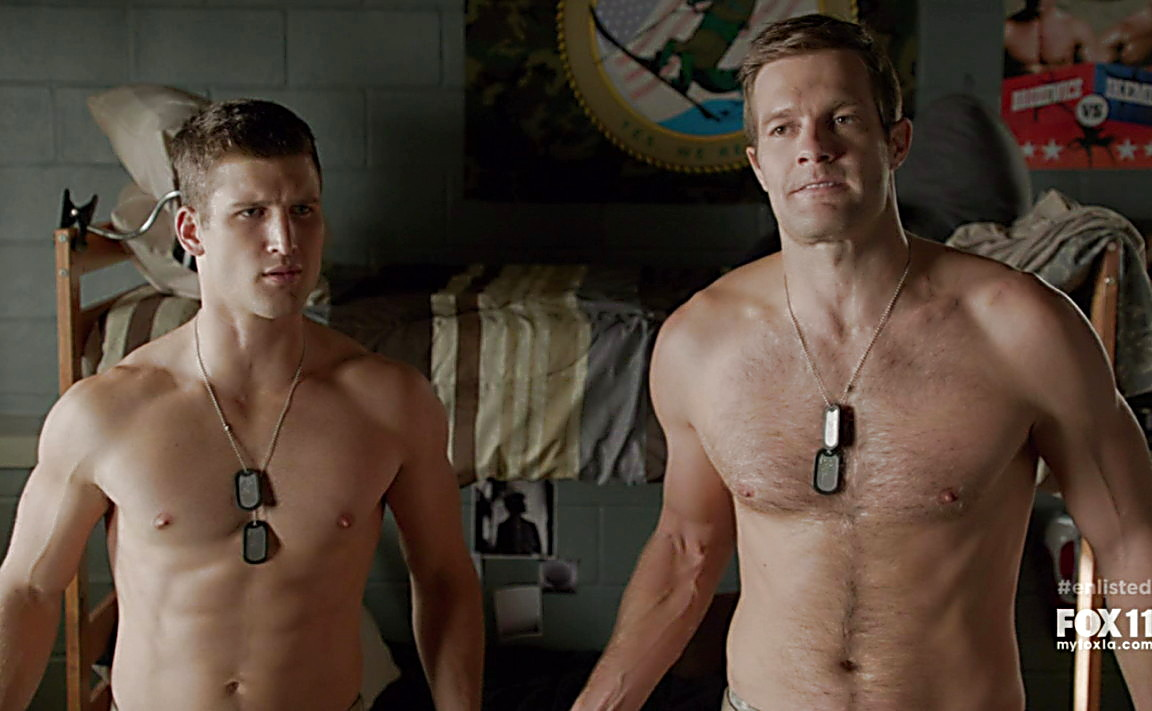 Parker Young sexy shirtless scene June 22, 2014, 10pm