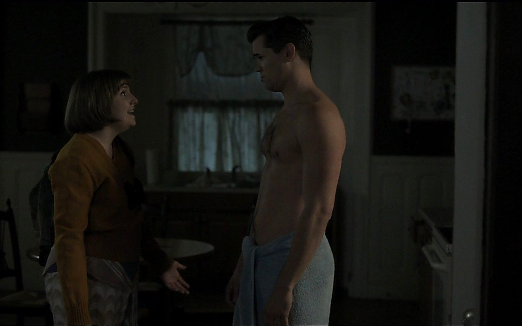 Andrew Rannells sexy shirtless scene January 19, 2015, 1am