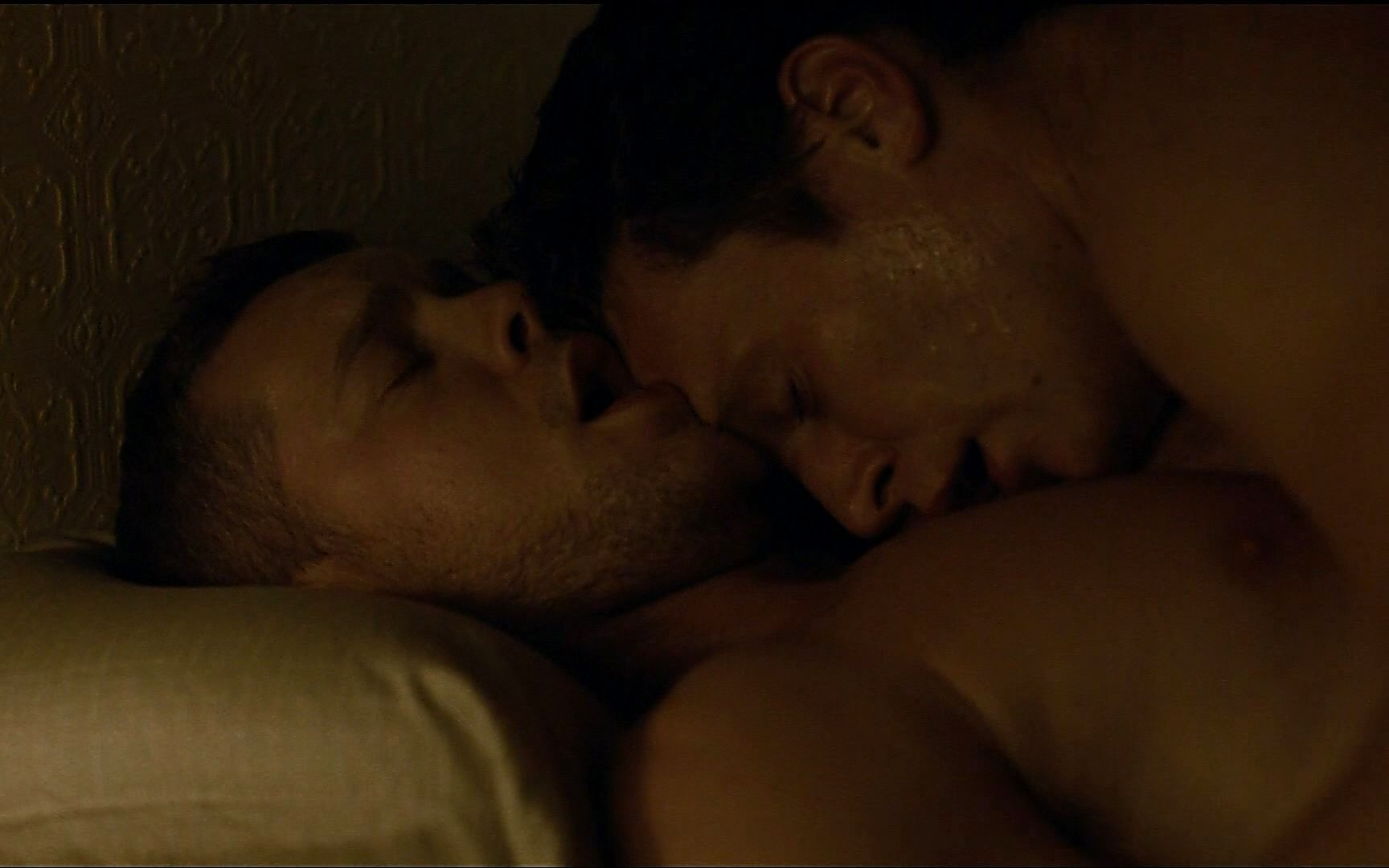 Jonathan Groff sexy shirtless scene January 26, 2015, 11pm