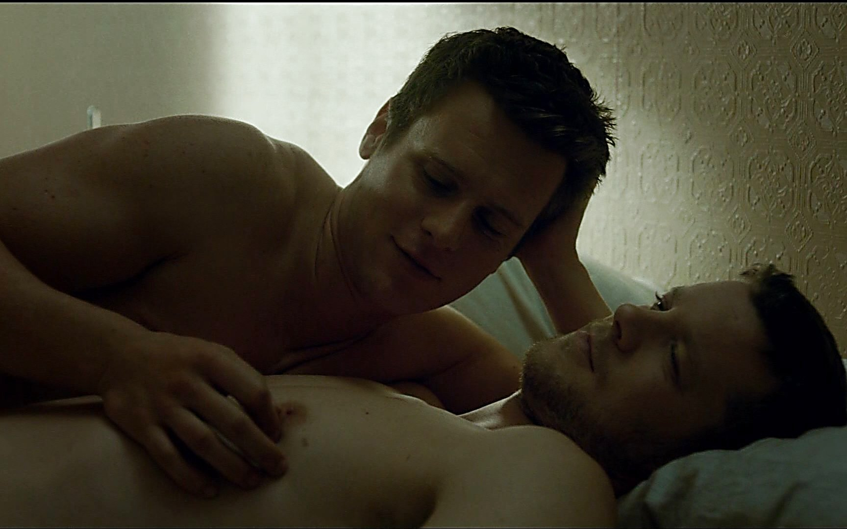 Jonathan Groff sexy shirtless scene July 19, 2015, 7pm
