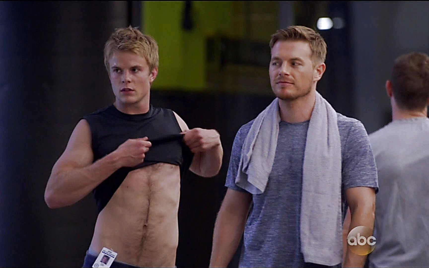 Graham Rogers sexy shirtless scene October 18, 2015, 2am