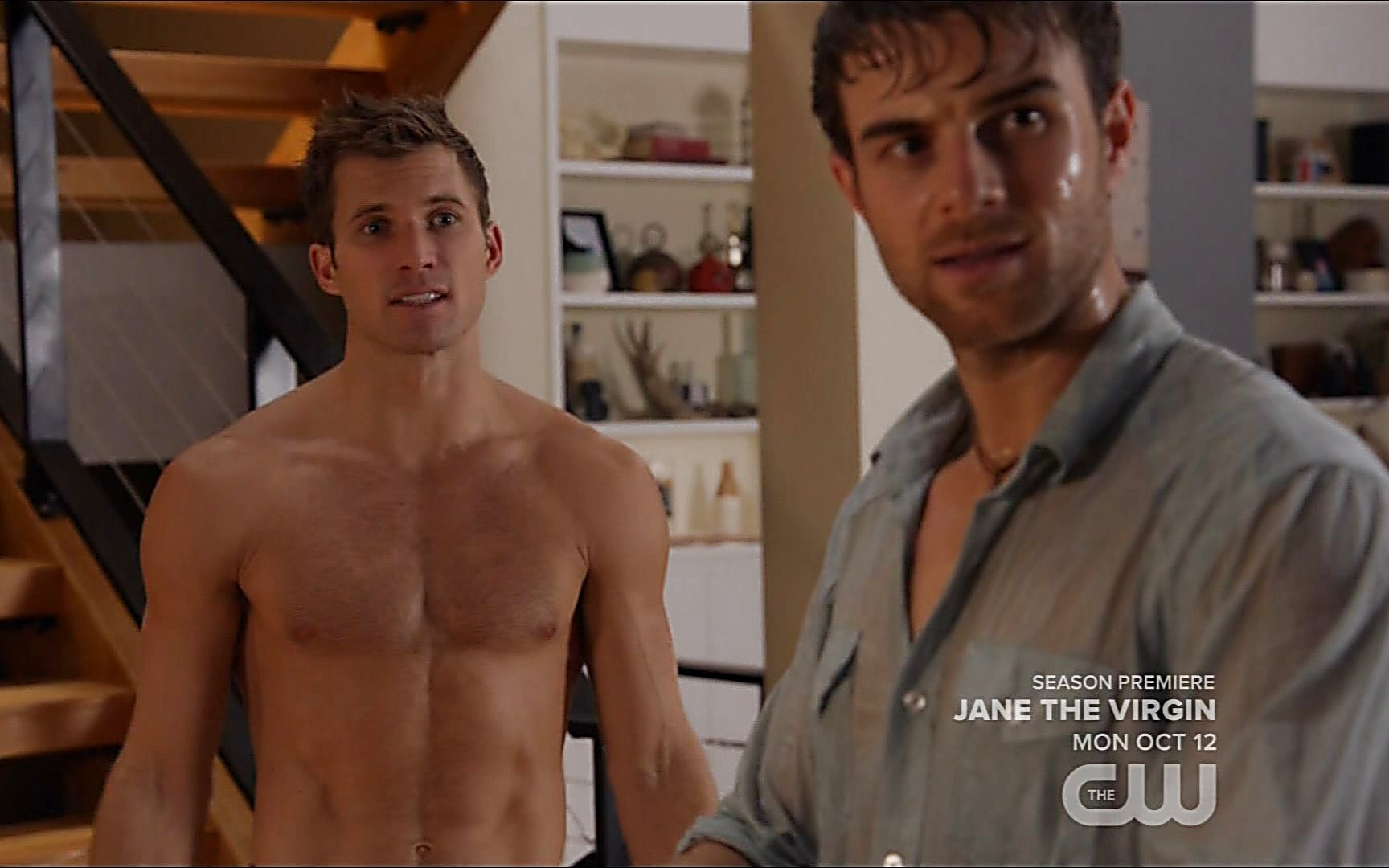 Nathaniel Buzolic sexy shirtless scene October 17, 2015, 11pm