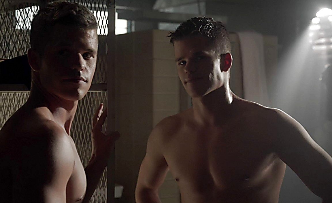 Charlie Carver sexy shirtless scene January 28, 2014, 11pm
