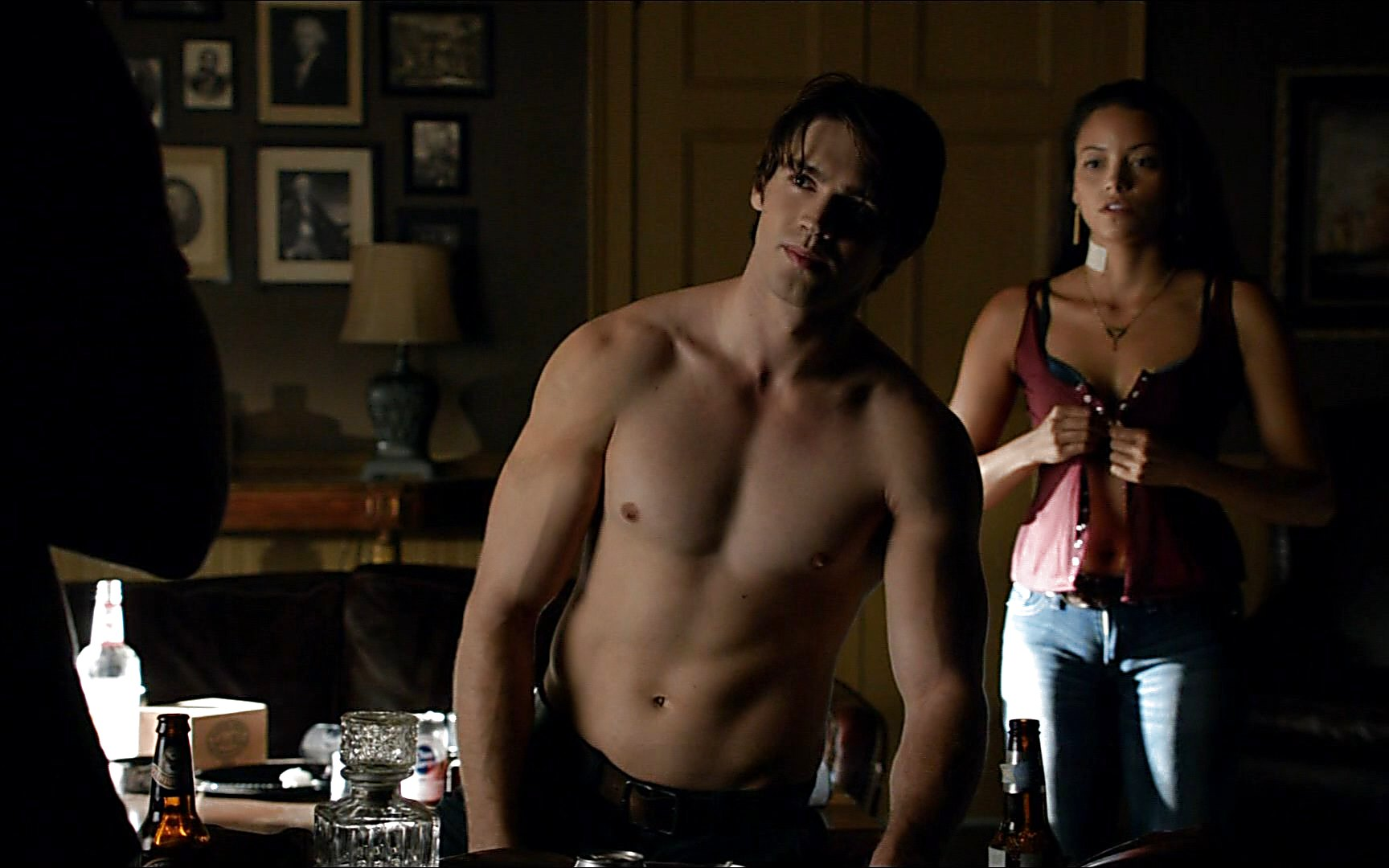 Steven R Mcqueen sexy shirtless scene November 2, 2014, 9pm