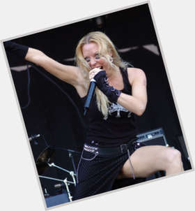 "<a href=""/hot-women/angela-gossow/is-she-married-michael-amott-single-relationship-man"">Angela Gossow</a> Slim body,  dyed blonde hair & hairstyles"