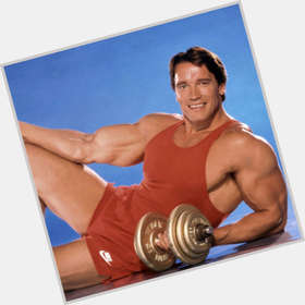 Arnold Schwarzenegger light brown hair & hairstyles Bodybuilder body,