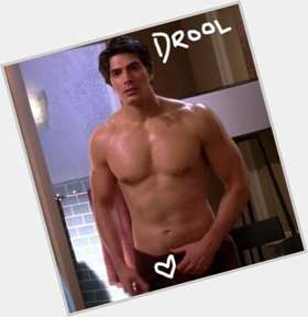 Brandon Routh dark brown hair & hairstyles Athletic body,