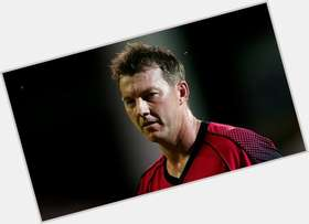 Brett Lee blonde hair & hairstyles Athletic body,