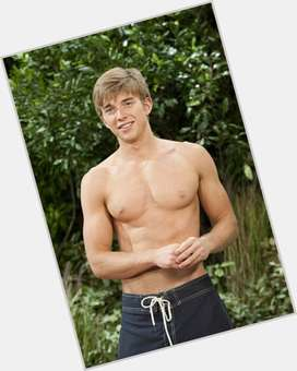 Chandler Massey blonde hair & hairstyles Athletic body,