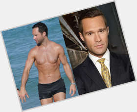 Chris Diamantopoulos dark brown hair & hairstyles Athletic body,