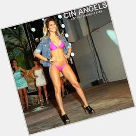 Cinthia Fernandez dark brown hair & hairstyles Voluptuous body,