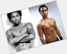 Corbin Bleu dark brown hair & hairstyles Athletic body,
