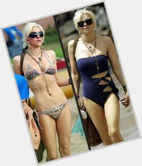 Courtney Love dyed blonde hair & hairstyles Athletic body,