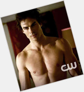 Damon Salvatore dark brown hair & hairstyles Athletic body,