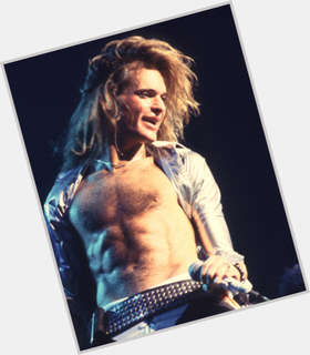 David Lee Roth blonde hair & hairstyles Athletic body,