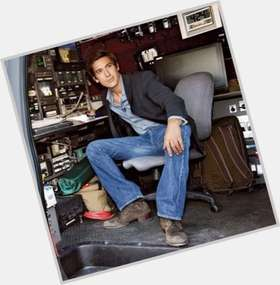 David Muir dark brown hair & hairstyles Athletic body,