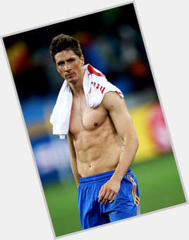 Fernando Torres blonde hair & hairstyles Athletic body,