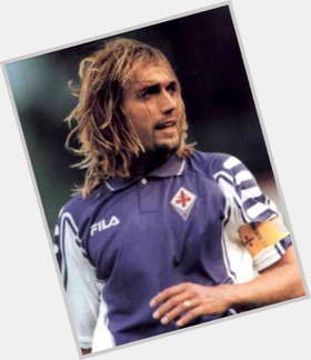 Gabriel Batistuta light brown hair & hairstyles Athletic body,