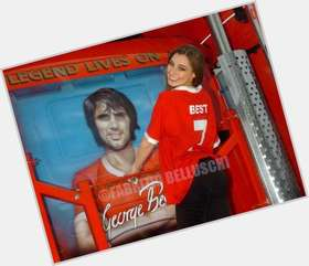 George Best dark brown hair & hairstyles Athletic body,
