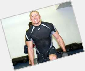 Georges St Pierre light brown hair & hairstyles Athletic body,