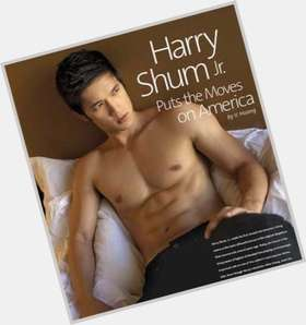 Harry Shum Jr dark brown hair & hairstyles Athletic body,
