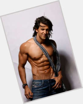 Hrithik Roshan dark brown hair & hairstyles Athletic body,